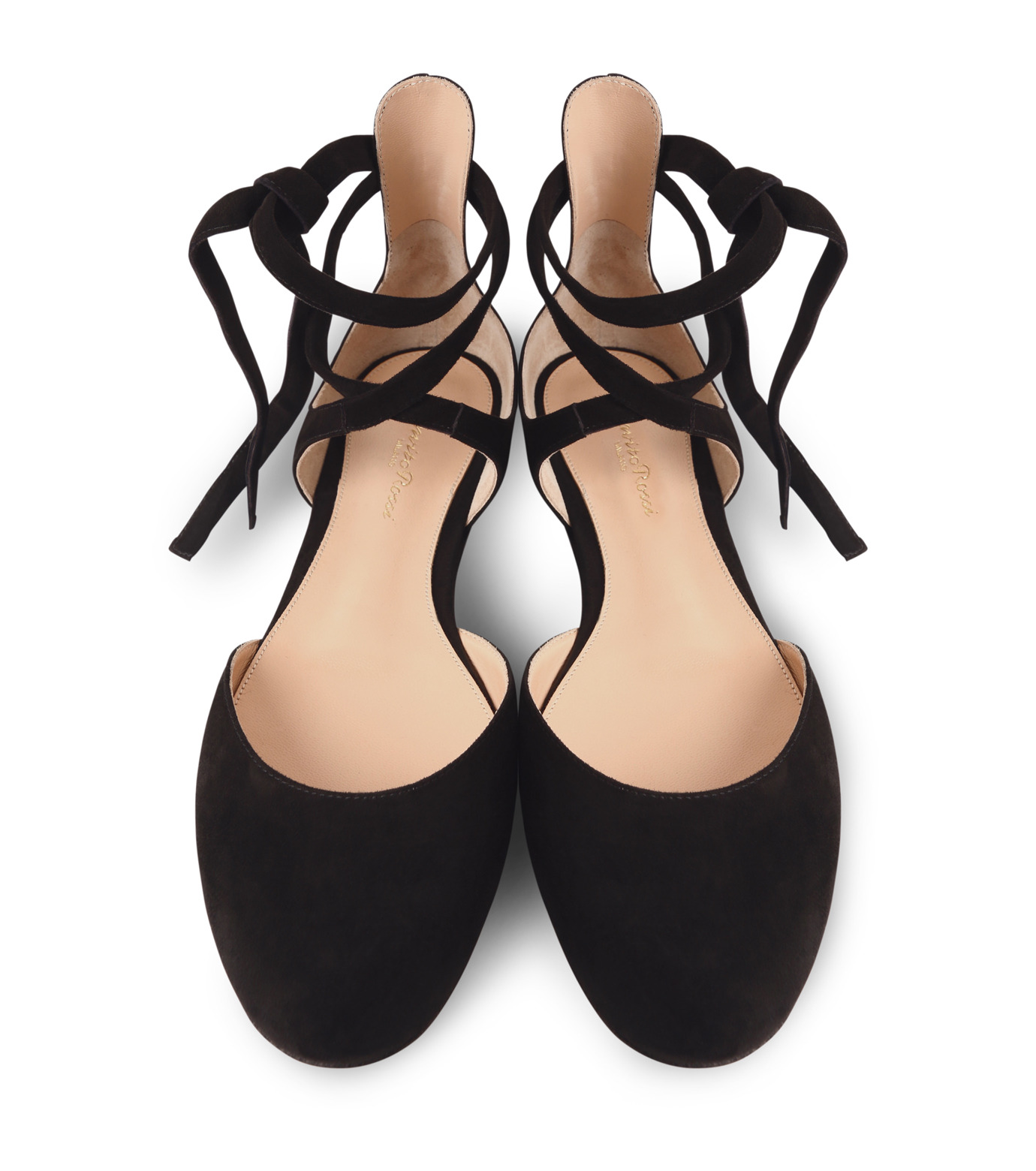 Gianvito Rossi(ジャンヴィト ロッシ)のNew Round Toe Flat w/Ankle Strap-BLACK(フラットシューズ/Flat shoes)-40615-13 拡大詳細画像4