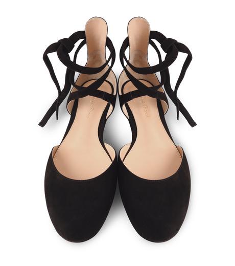 Gianvito Rossi(ジャンヴィト ロッシ)のNew Round Toe Flat w/Ankle Strap-BLACK(フラットシューズ/Flat shoes)-40615-13 詳細画像4