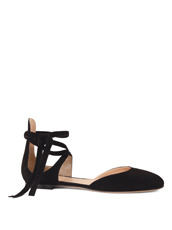 Gianvito Rossi(ジャンヴィト ロッシ) New Round Toe Flat w/Ankle Strap