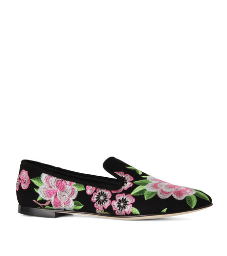 Giuseppe Zanotti Design(ジュゼッペザノッティ)のFlower Embro Opera Shoes-BLACK(シューズ/shoes)-41-6187CA005-13 詳細画像1