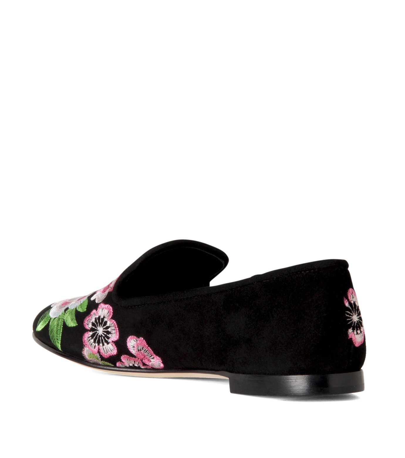 Giuseppe Zanotti Design(ジュゼッペザノッティ)のFlower Embro Opera Shoes-BLACK(シューズ/shoes)-41-6187CA005-13 拡大詳細画像2
