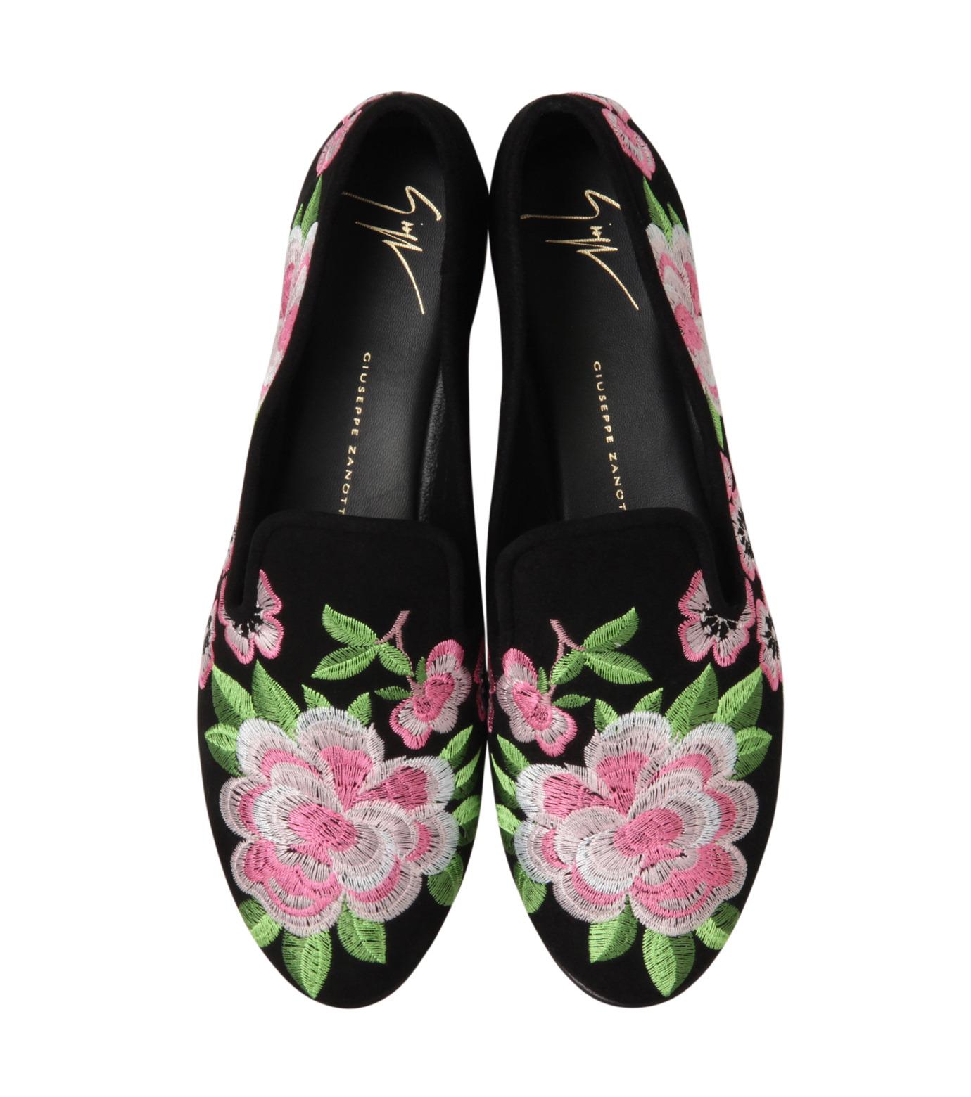 Giuseppe Zanotti Design(ジュゼッペザノッティ)のFlower Embro Opera Shoes-BLACK(シューズ/shoes)-41-6187CA005-13 拡大詳細画像4