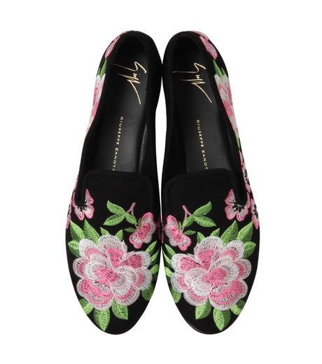 Giuseppe Zanotti Design(ジュゼッペザノッティ)のFlower Embro Opera Shoes-BLACK(シューズ/shoes)-41-6187CA005-13 詳細画像4
