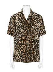 SAINT LAURENT Leopard Short Sleeve