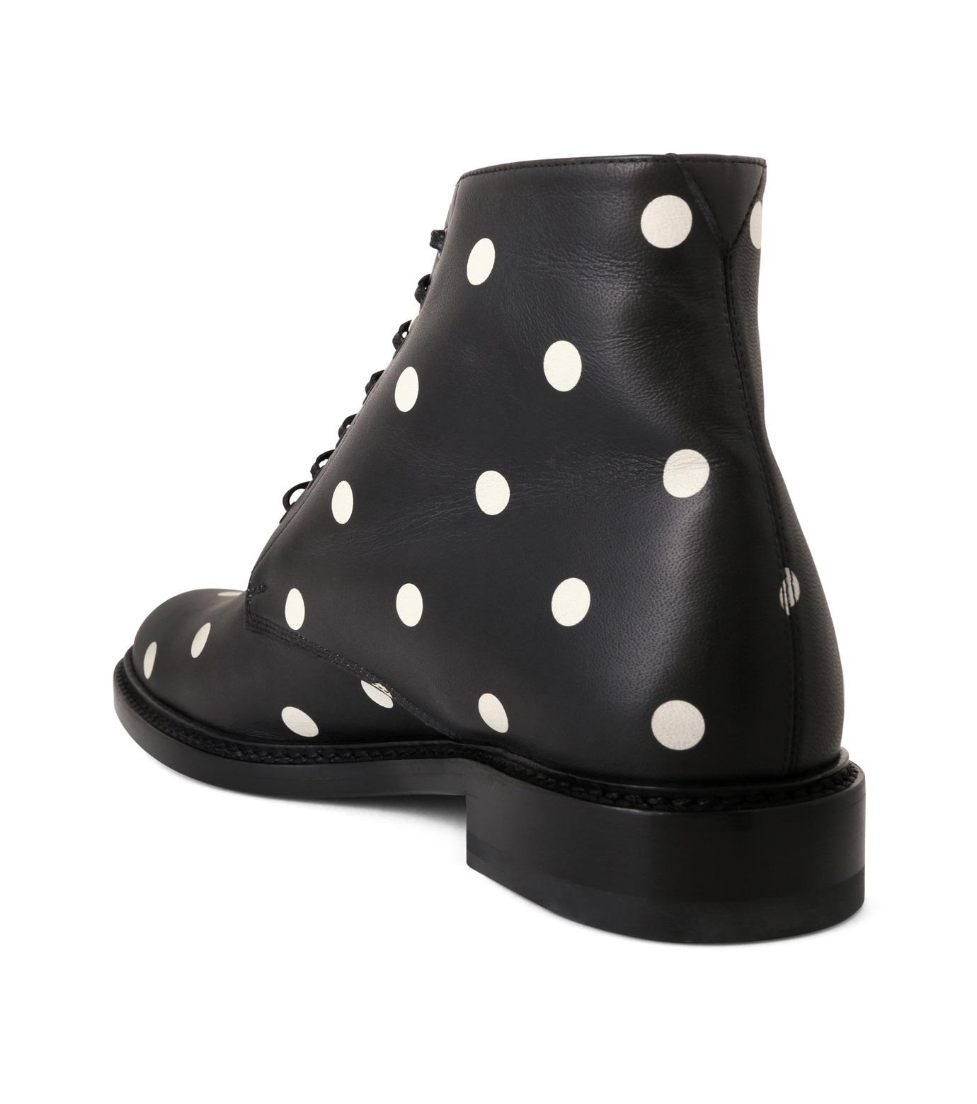 SAINT LAURENT(サンローラン)のLolita Lace Up Boots Dots-BLACK(ブーツ/boots)-417667-CZC00-13 拡大詳細画像2