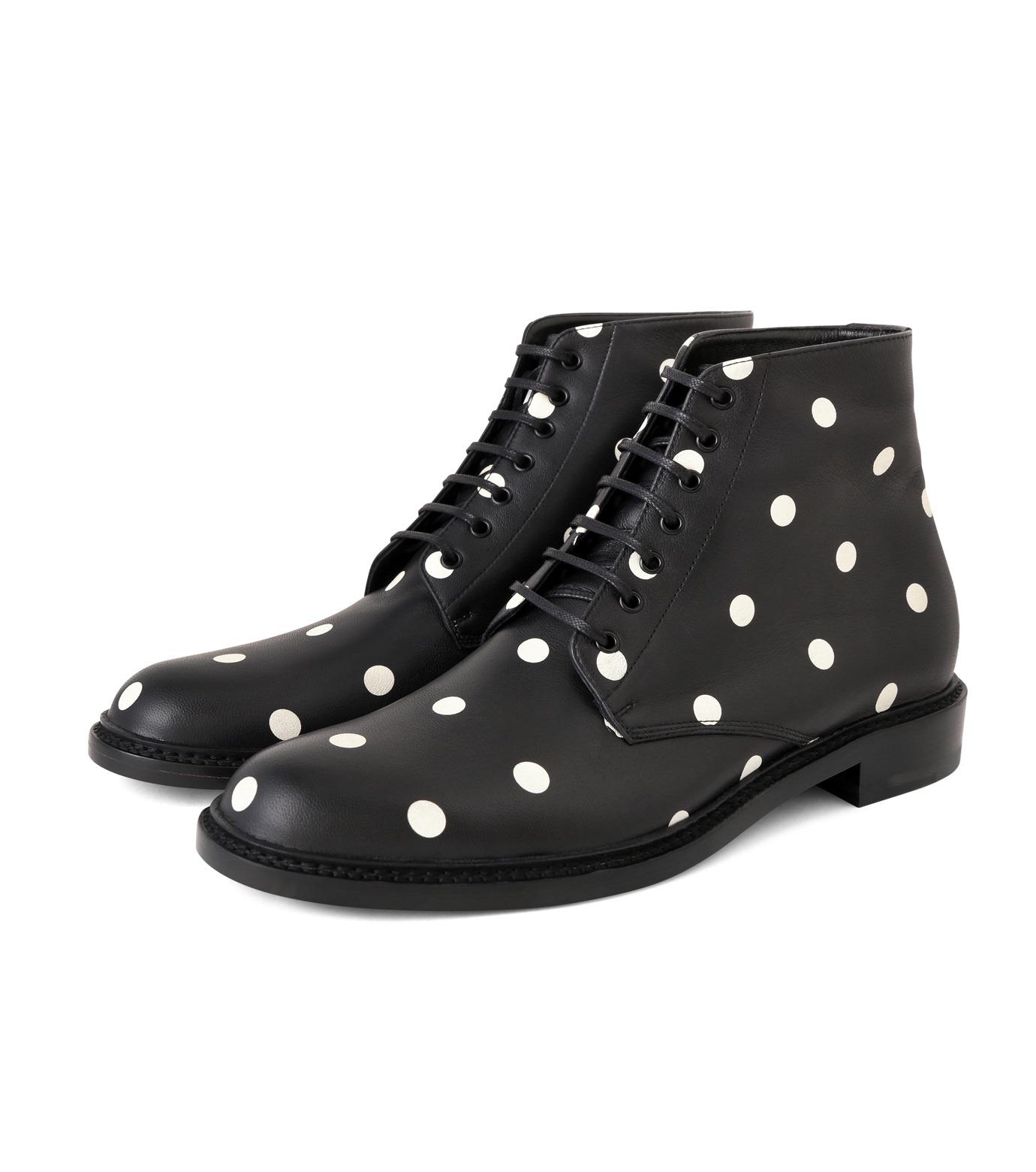 SAINT LAURENT(サンローラン)のLolita Lace Up Boots Dots-BLACK(ブーツ/boots)-417667-CZC00-13 拡大詳細画像3
