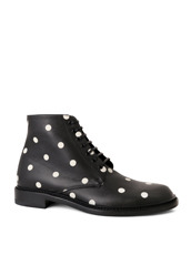 SAINT LAURENT Lolita Lace Up Boots Dots