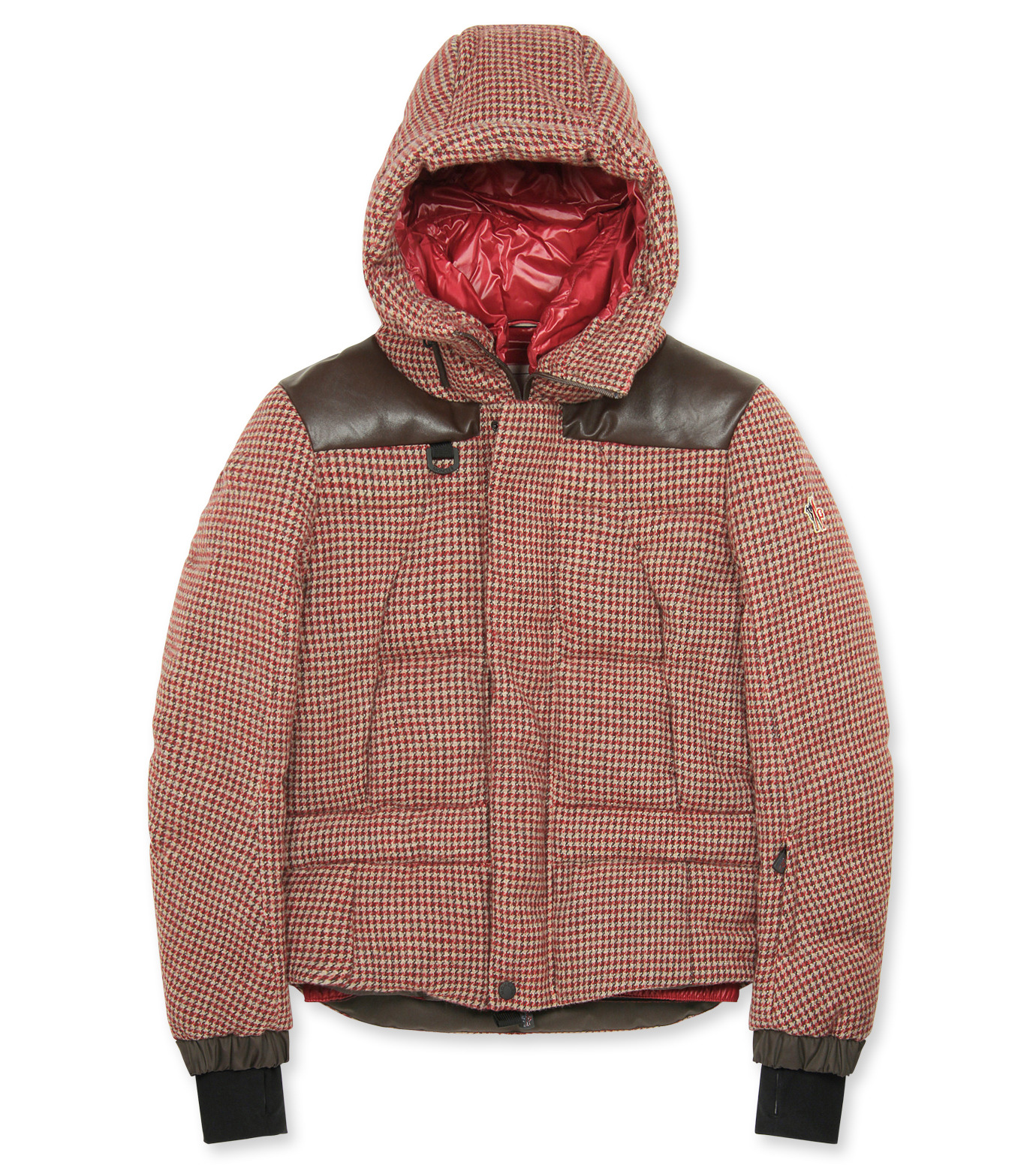 Moncler Grenoble(モンクレールグルノーブル)のCheck down-RED-41911-85-62 拡大詳細画像1