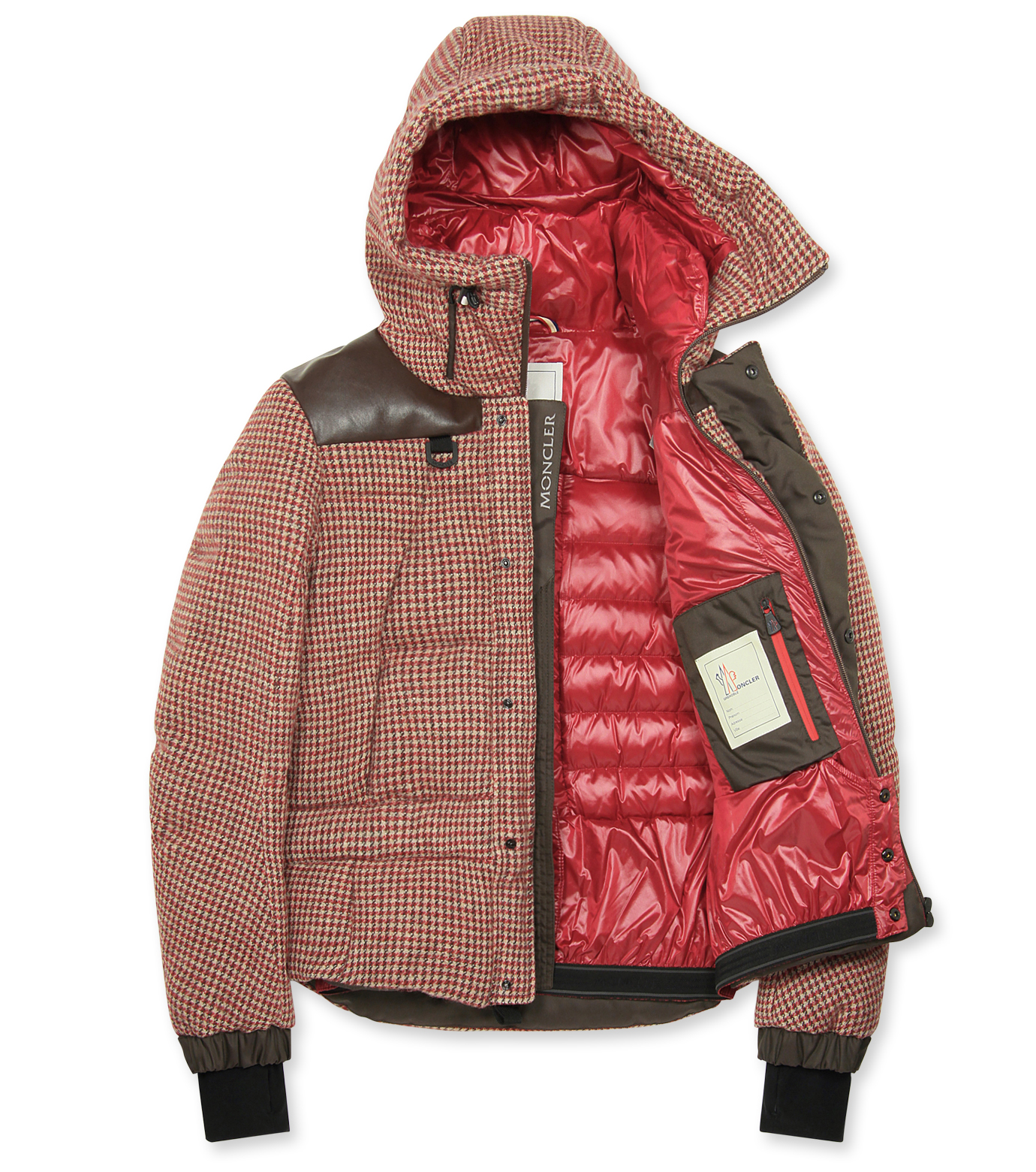 Moncler Grenoble(モンクレールグルノーブル)のCheck down-RED-41911-85-62 拡大詳細画像2