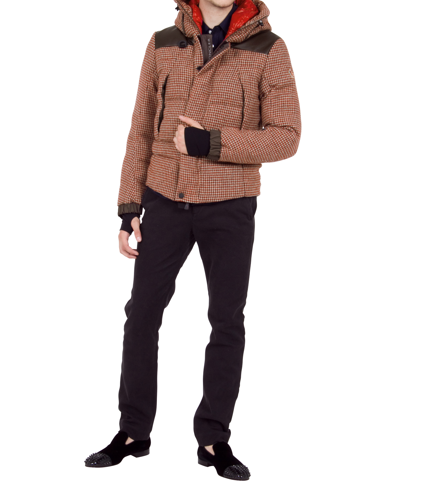 Moncler Grenoble(モンクレールグルノーブル)のCheck down-RED-41911-85-62 拡大詳細画像3