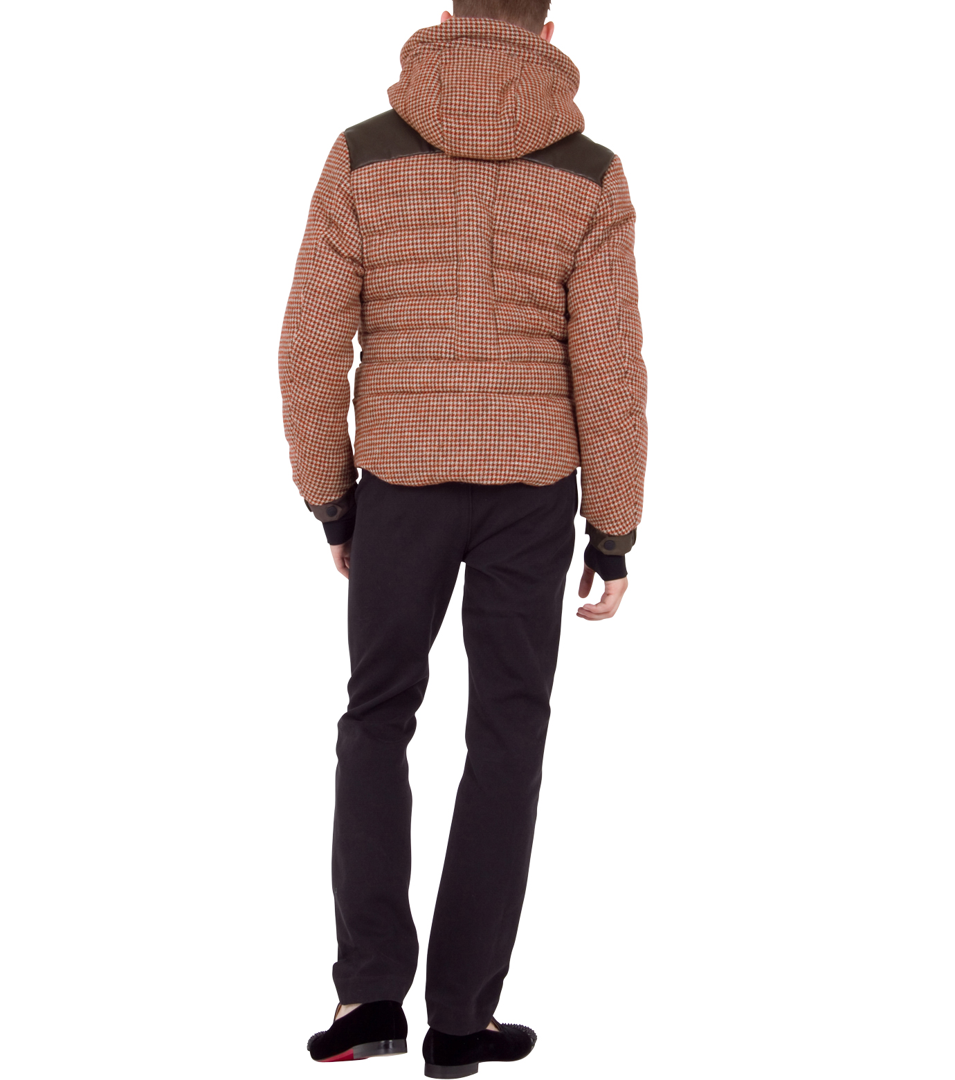 Moncler Grenoble(モンクレールグルノーブル)のCheck down-RED-41911-85-62 拡大詳細画像4