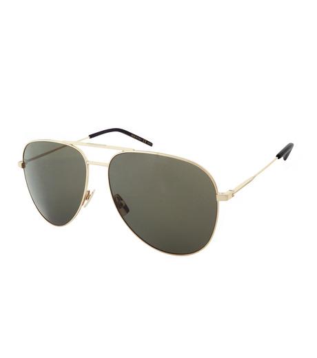 SAINT LAURENT(サンローラン)のTeardrop-GOLD(アイウェア/eyewear)-419695-Y9910-2 詳細画像1