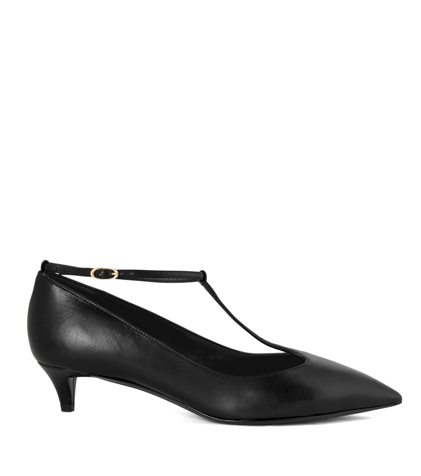 Giuseppe Zanotti Design(ジュゼッペザノッティ)のKitten Heel T-Strap Pump-BLACK(シューズ/shoes)-42-6082NP035-13 拡大詳細画像1