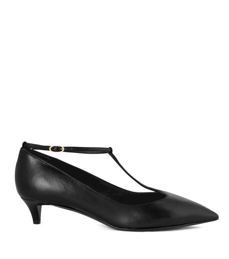 Giuseppe Zanotti Design(ジュゼッペザノッティ)のKitten Heel T-Strap Pump-BLACK(シューズ/shoes)-42-6082NP035-13 詳細画像1