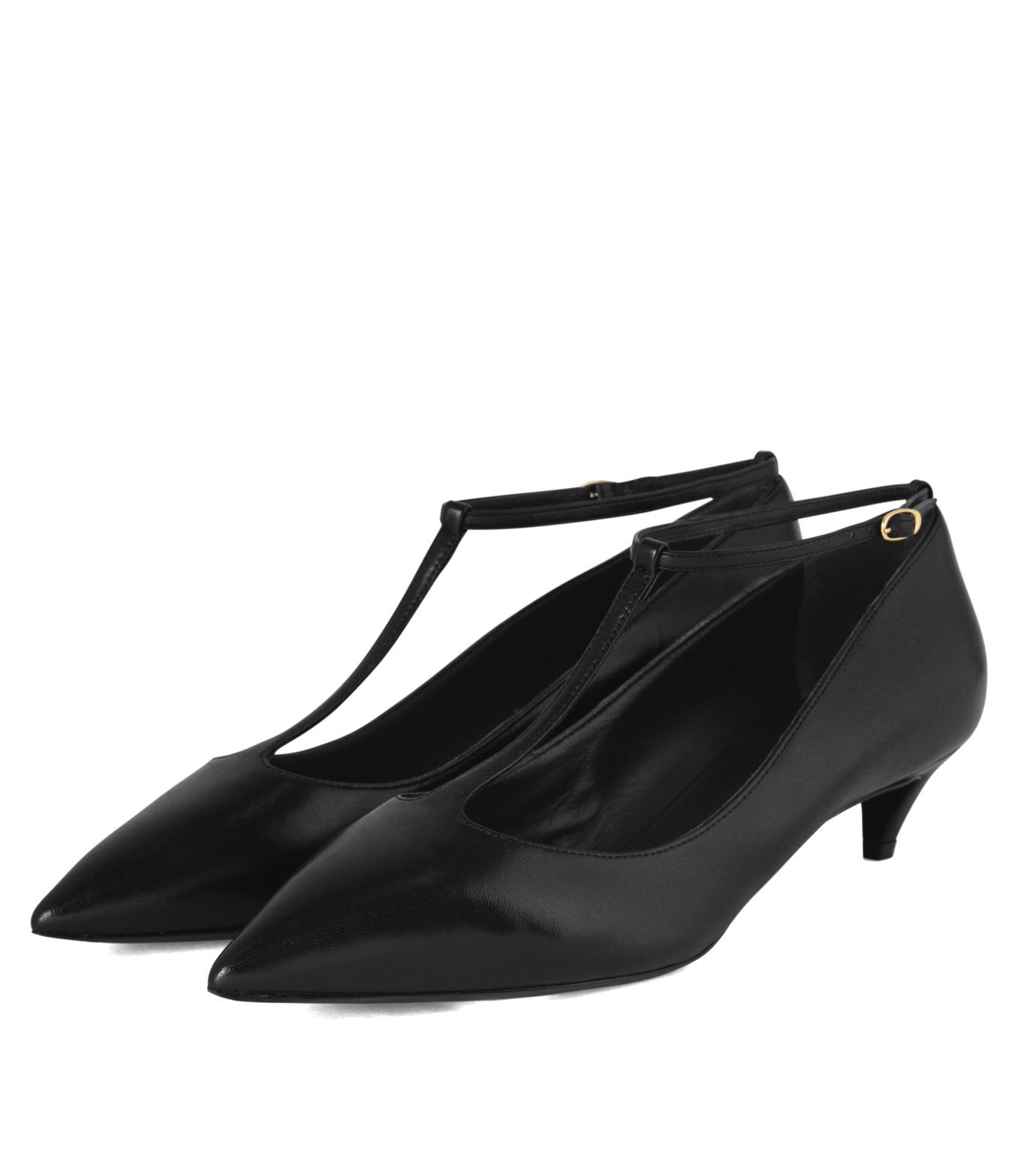 Giuseppe Zanotti Design(ジュゼッペザノッティ)のKitten Heel T-Strap Pump-BLACK(シューズ/shoes)-42-6082NP035-13 拡大詳細画像3