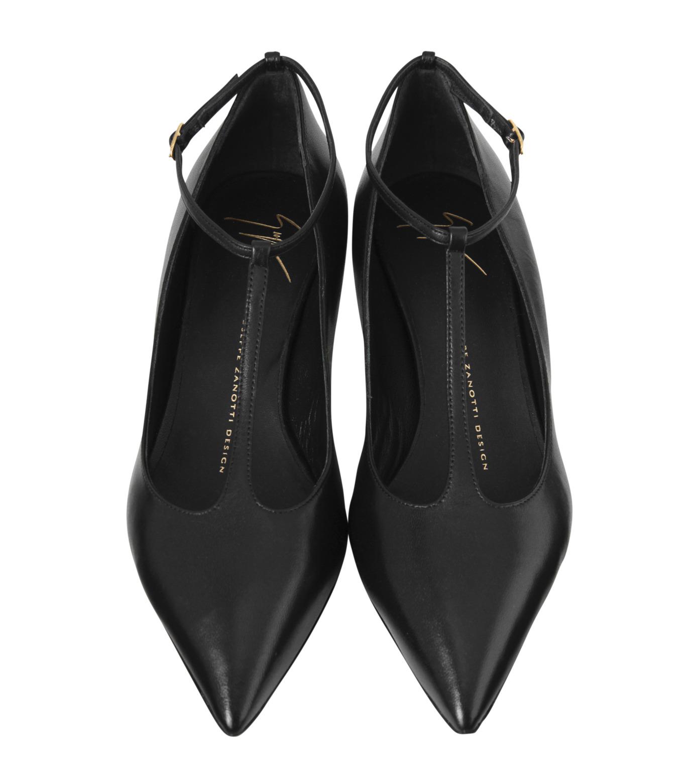 Giuseppe Zanotti Design(ジュゼッペザノッティ)のKitten Heel T-Strap Pump-BLACK(シューズ/shoes)-42-6082NP035-13 拡大詳細画像4