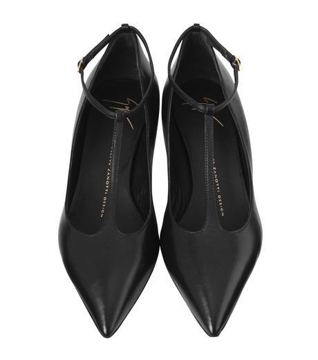 Giuseppe Zanotti Design(ジュゼッペザノッティ)のKitten Heel T-Strap Pump-BLACK(シューズ/shoes)-42-6082NP035-13 詳細画像4