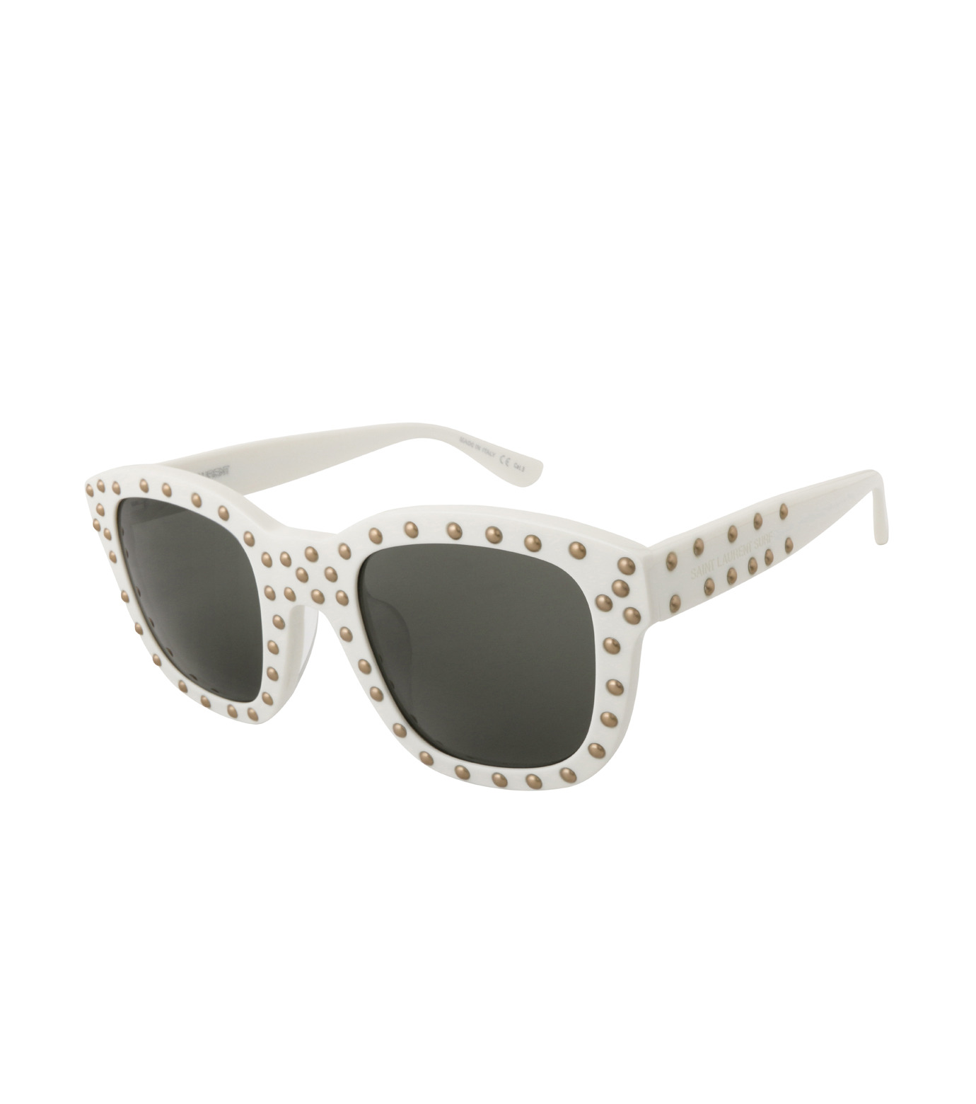 SAINT LAURENT(サンローラン)のSL 100 Lou Studded-WHITE(アイウェア/eyewear)-420137-4 拡大詳細画像1