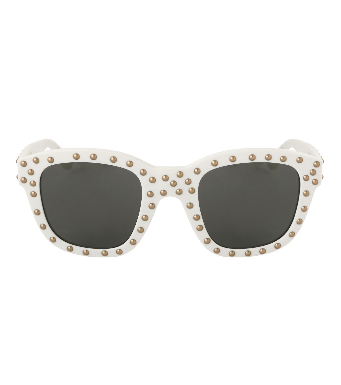 SAINT LAURENT(サンローラン)のSL 100 Lou Studded-WHITE(アイウェア/eyewear)-420137-4 拡大詳細画像3