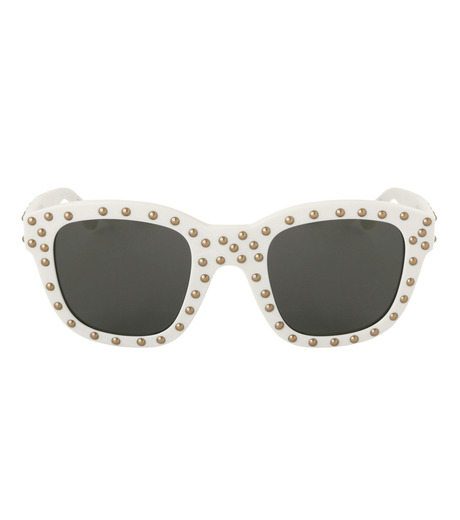 SAINT LAURENT(サンローラン)のSL 100 Lou Studded-WHITE(アイウェア/eyewear)-420137-4 詳細画像3