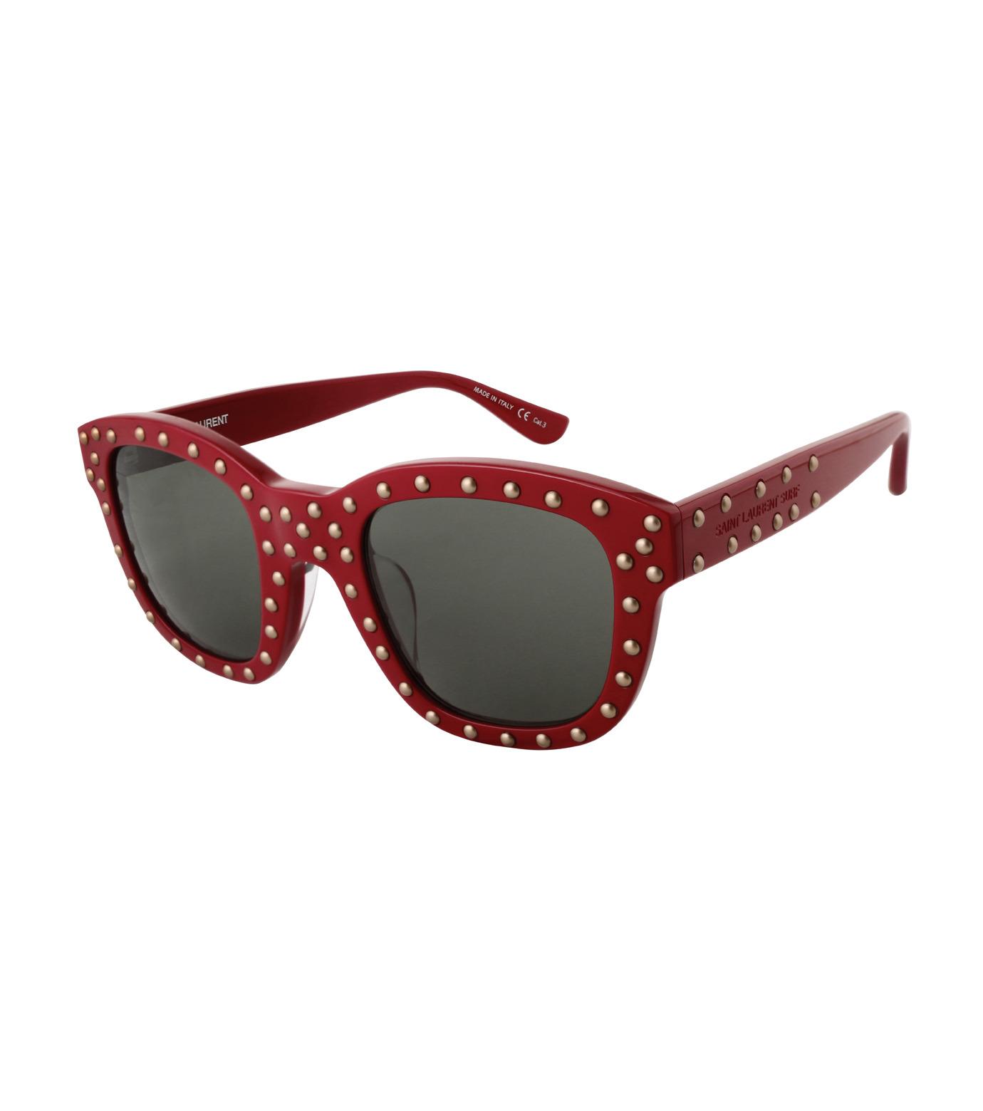 SAINT LAURENT(サンローラン)のSL 100 Lou Studded-RED(アイウェア/eyewear)-420137-62 拡大詳細画像1