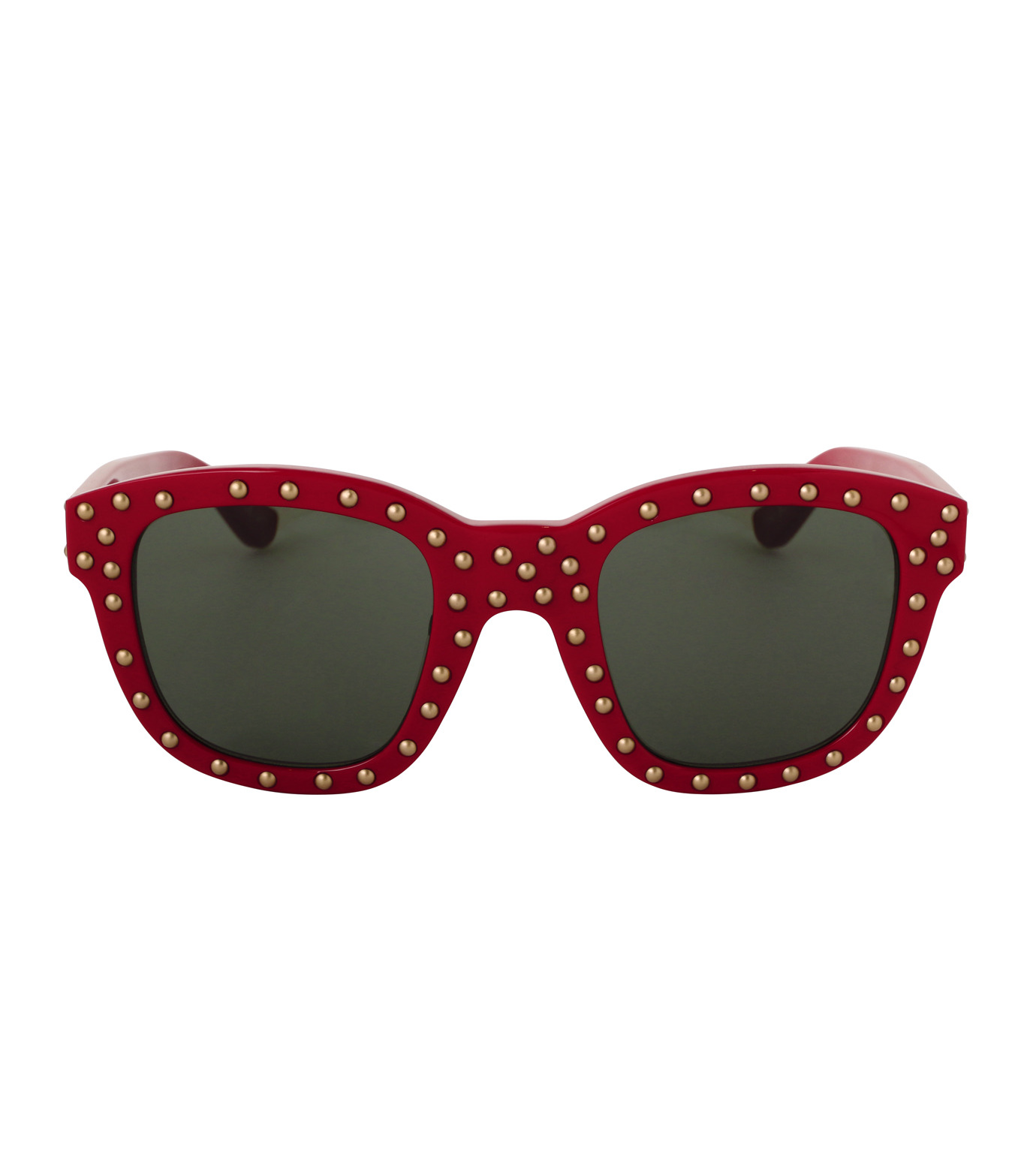 SAINT LAURENT(サンローラン)のSL 100 Lou Studded-RED(アイウェア/eyewear)-420137-62 拡大詳細画像3