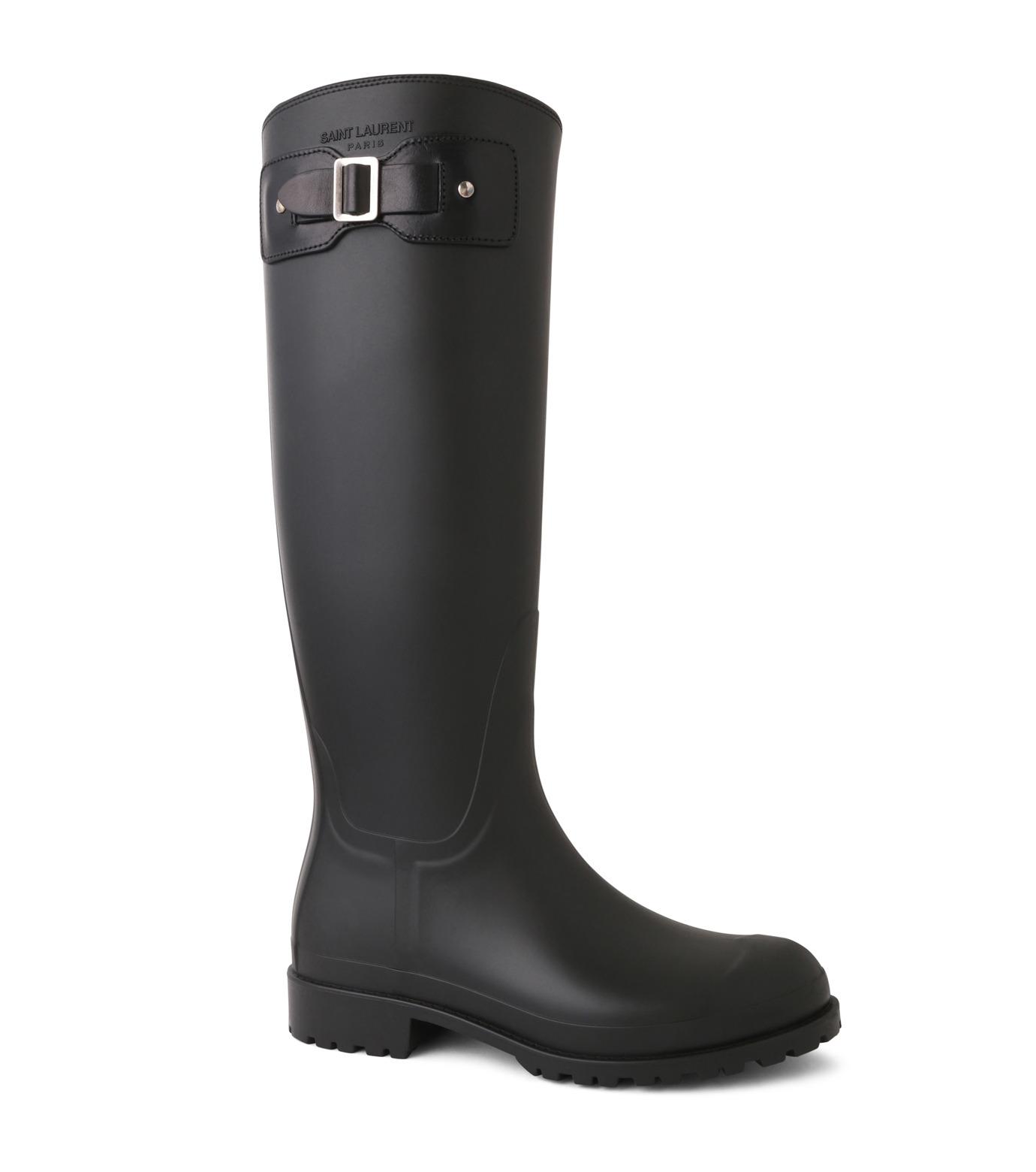 SAINT LAURENT(サンローラン)のRain Boots-BLACK(シューズ/shoes)-427315-GQN10-13 拡大詳細画像1