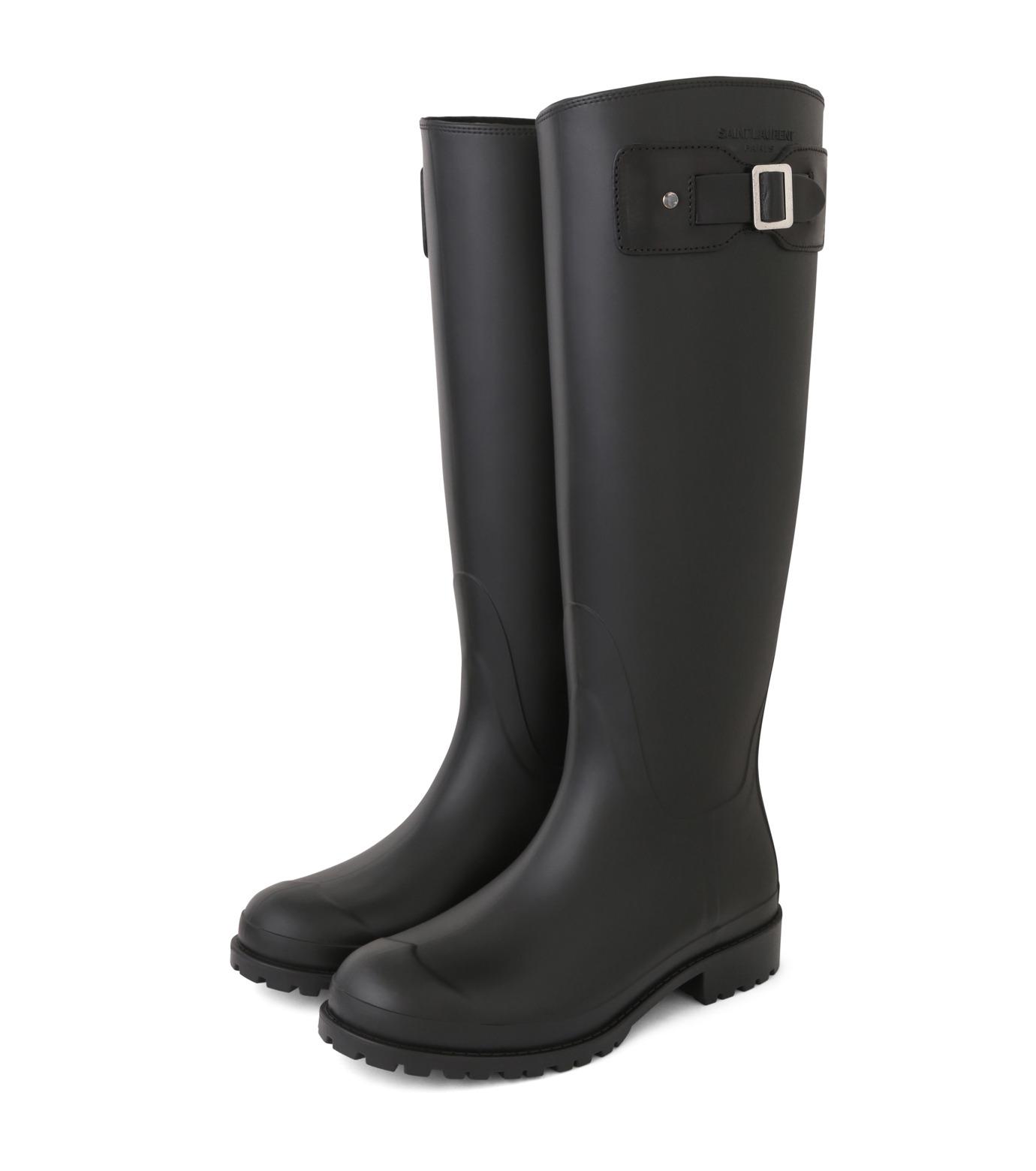 SAINT LAURENT(サンローラン)のRain Boots-BLACK(シューズ/shoes)-427315-GQN10-13 拡大詳細画像3