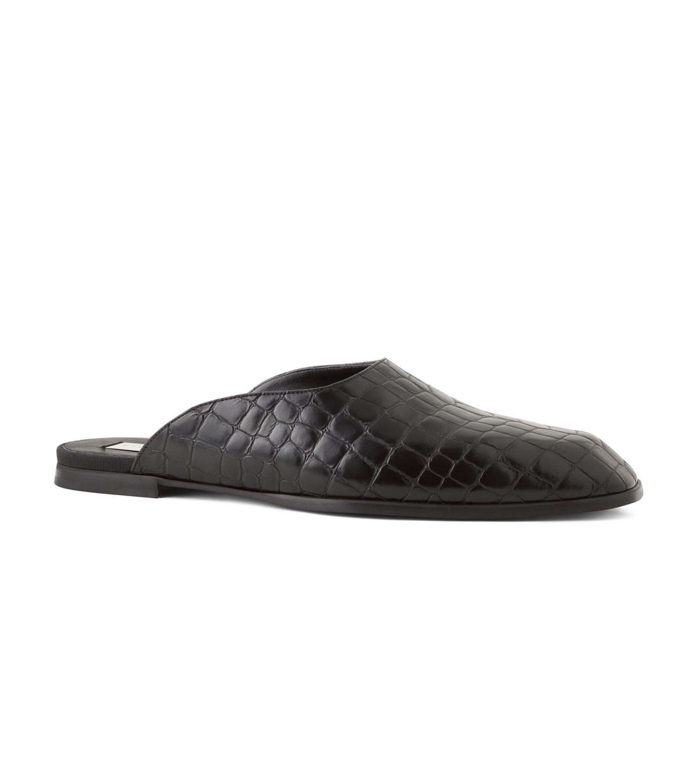 Stella McCartney(ステラマッカートニー)のCroco Moccasion-BLACK(フラットシューズ/Flat shoes)-430856-W0ZY0-13 拡大詳細画像1
