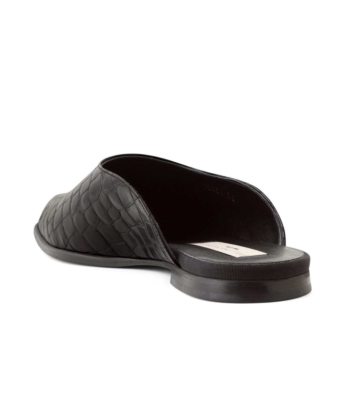Stella McCartney(ステラマッカートニー)のCroco Moccasion-BLACK(フラットシューズ/Flat shoes)-430856-W0ZY0-13 拡大詳細画像2
