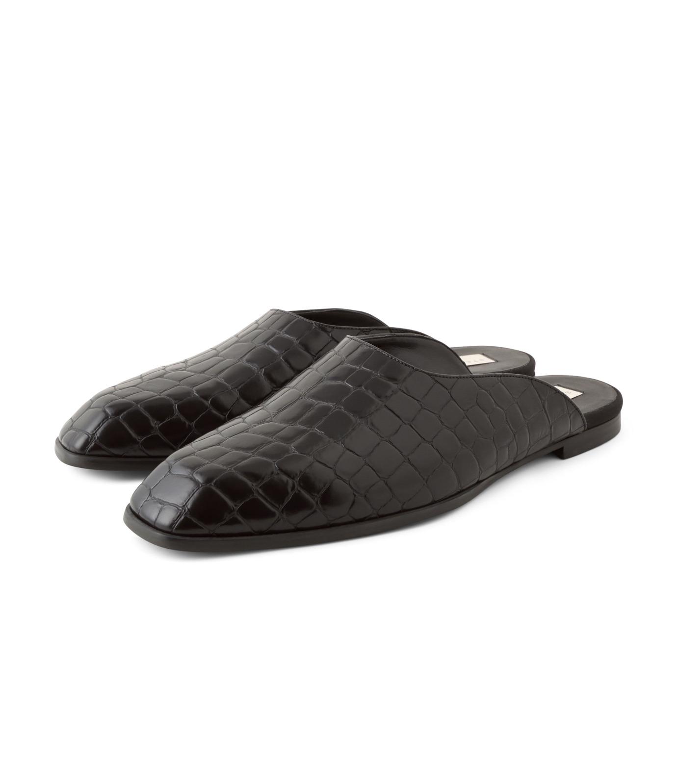 Stella McCartney(ステラマッカートニー)のCroco Moccasion-BLACK(フラットシューズ/Flat shoes)-430856-W0ZY0-13 拡大詳細画像3