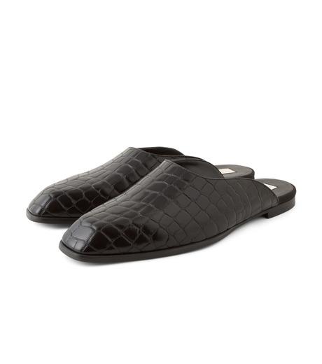 Stella McCartney(ステラマッカートニー)のCroco Moccasion-BLACK(フラットシューズ/Flat shoes)-430856-W0ZY0-13 詳細画像3