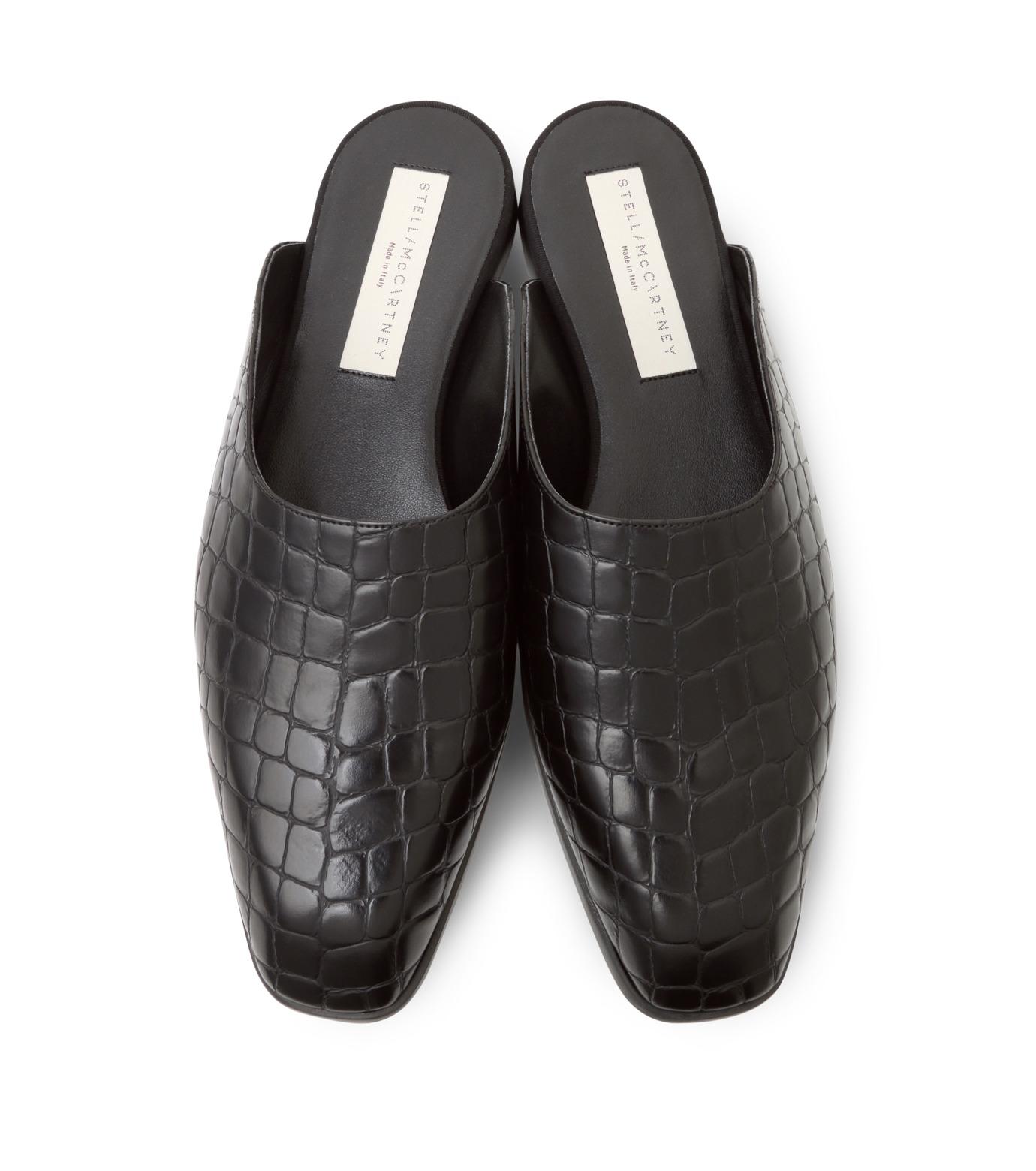 Stella McCartney(ステラマッカートニー)のCroco Moccasion-BLACK(フラットシューズ/Flat shoes)-430856-W0ZY0-13 拡大詳細画像4