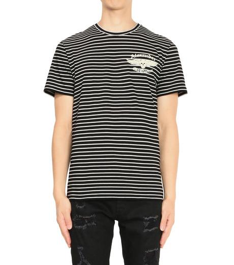 Alexander McQueen(アレキサンダーマックイーン)のBorder T Shirt-BLACK(カットソー/cut and sewn)-430934-13 詳細画像1