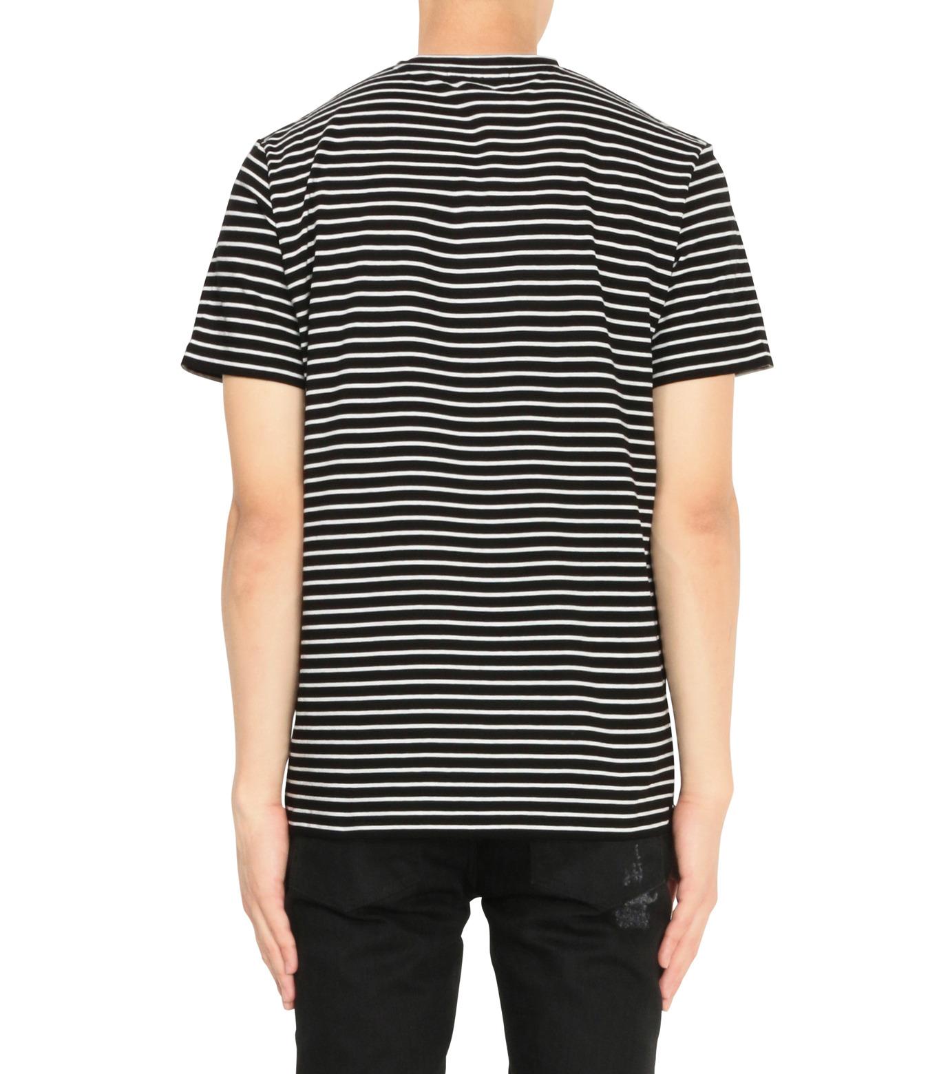 Alexander McQueen(アレキサンダーマックイーン)のBorder T Shirt-BLACK(カットソー/cut and sewn)-430934-13 拡大詳細画像2