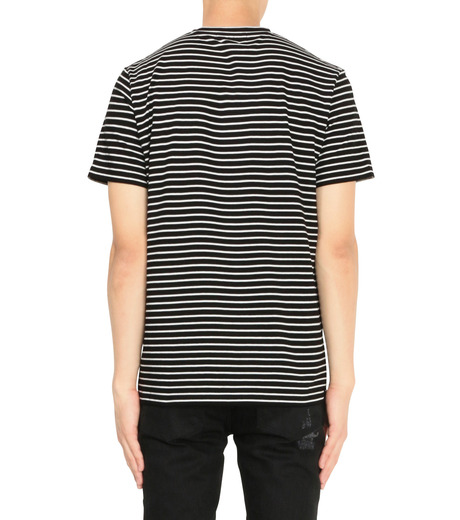 Alexander McQueen(アレキサンダーマックイーン)のBorder T Shirt-BLACK(カットソー/cut and sewn)-430934-13 詳細画像2