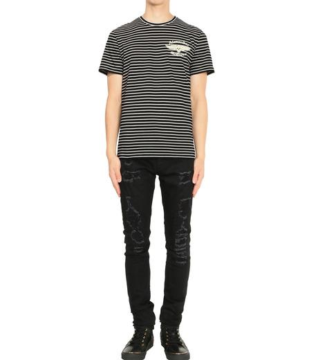 Alexander McQueen(アレキサンダーマックイーン)のBorder T Shirt-BLACK(カットソー/cut and sewn)-430934-13 詳細画像3