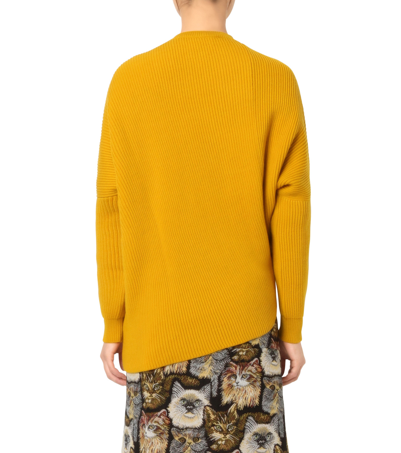Stella McCartney(ステラマッカートニー)のClean Ribs Crew Neck Jumper-YELLOW(ニット/knit)-431737-S1672-32 拡大詳細画像2