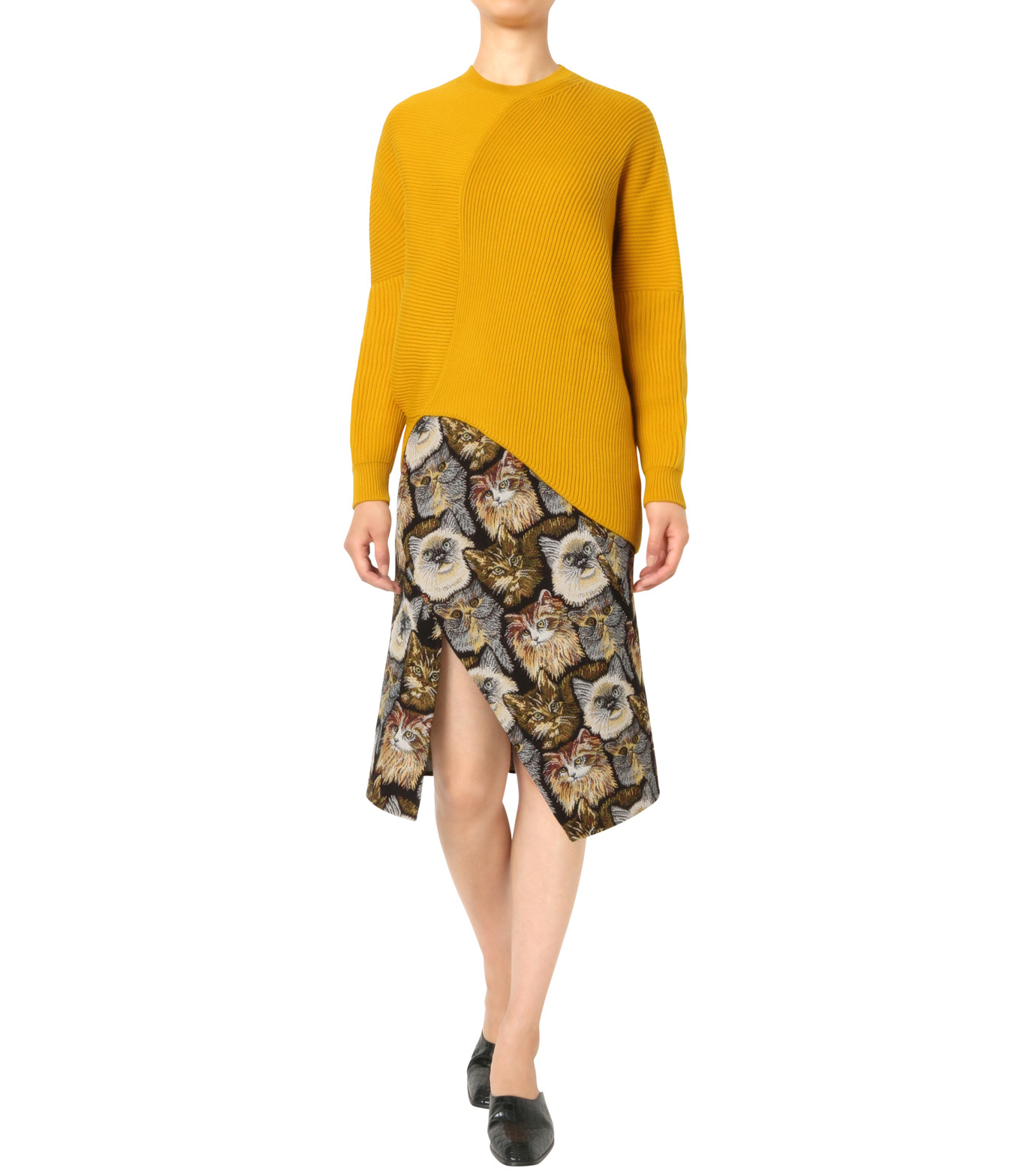 Stella McCartney(ステラマッカートニー)のClean Ribs Crew Neck Jumper-YELLOW(ニット/knit)-431737-S1672-32 拡大詳細画像3