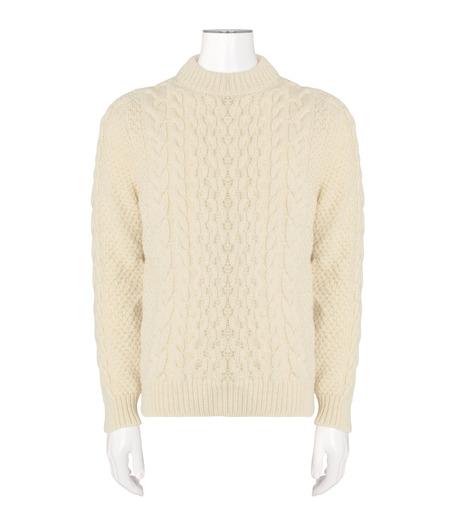 SAINT LAURENT(サンローラン)のLowgage Knit-WHITE(ニット/knit)-437265-Y1RH1-4 詳細画像1