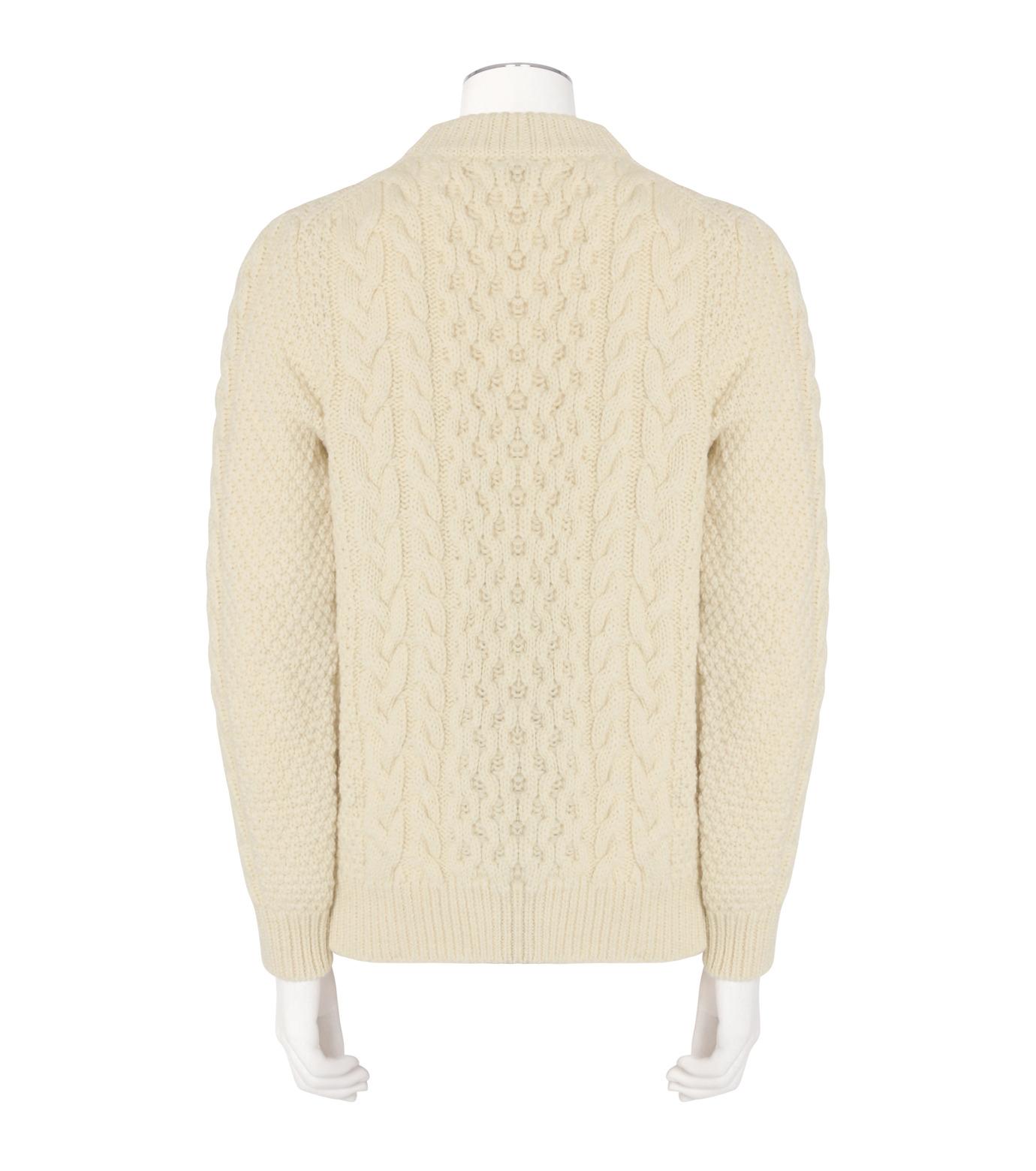 SAINT LAURENT(サンローラン)のLowgage Knit-WHITE(ニット/knit)-437265-Y1RH1-4 拡大詳細画像2