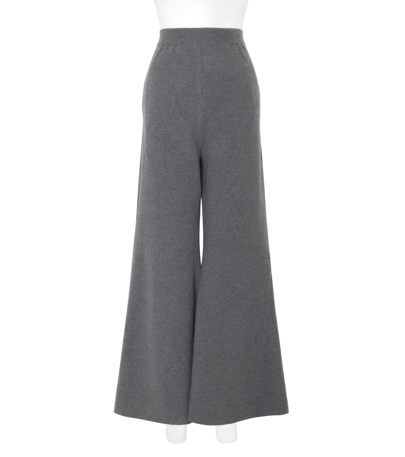 Stella McCartney(ステラマッカートニー)のDeconstructed Knit Wide Pants-CHARCHOL GRAY(パンツ/pants)-441537-S1729-12 拡大詳細画像1