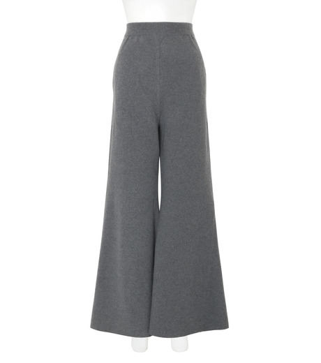 Stella McCartney(ステラマッカートニー)のDeconstructed Knit Wide Pants-CHARCHOL GRAY(パンツ/pants)-441537-S1729-12 詳細画像1