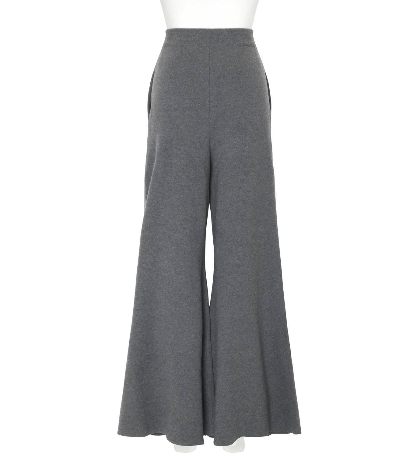 Stella McCartney(ステラマッカートニー)のDeconstructed Knit Wide Pants-CHARCHOL GRAY(パンツ/pants)-441537-S1729-12 拡大詳細画像2