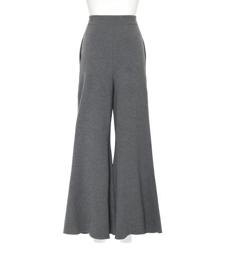 Stella McCartney(ステラマッカートニー)のDeconstructed Knit Wide Pants-CHARCHOL GRAY(パンツ/pants)-441537-S1729-12 詳細画像2