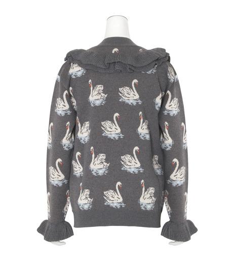 Stella McCartney(ステラマッカートニー)のSwan Jacquard Knit Jumper-GRAY(ニット/knit)-444407-S1724-11 詳細画像2