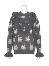 Stella McCartney Swan Jacquard Knit Jumper