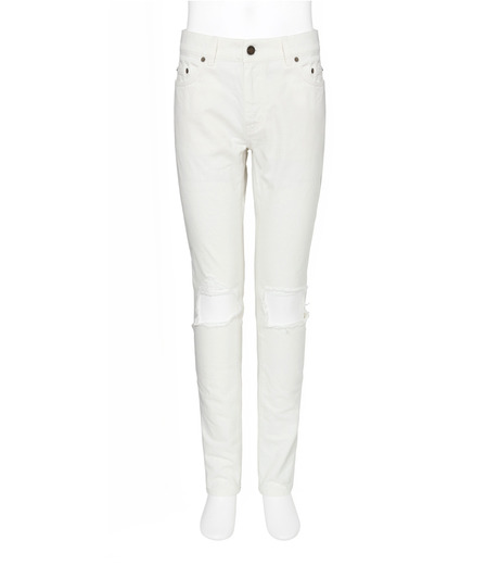 SAINT LAURENT(サンローラン)のClushed Denim-WHITE(デニム/denim)-462737-Y888L-4 詳細画像1