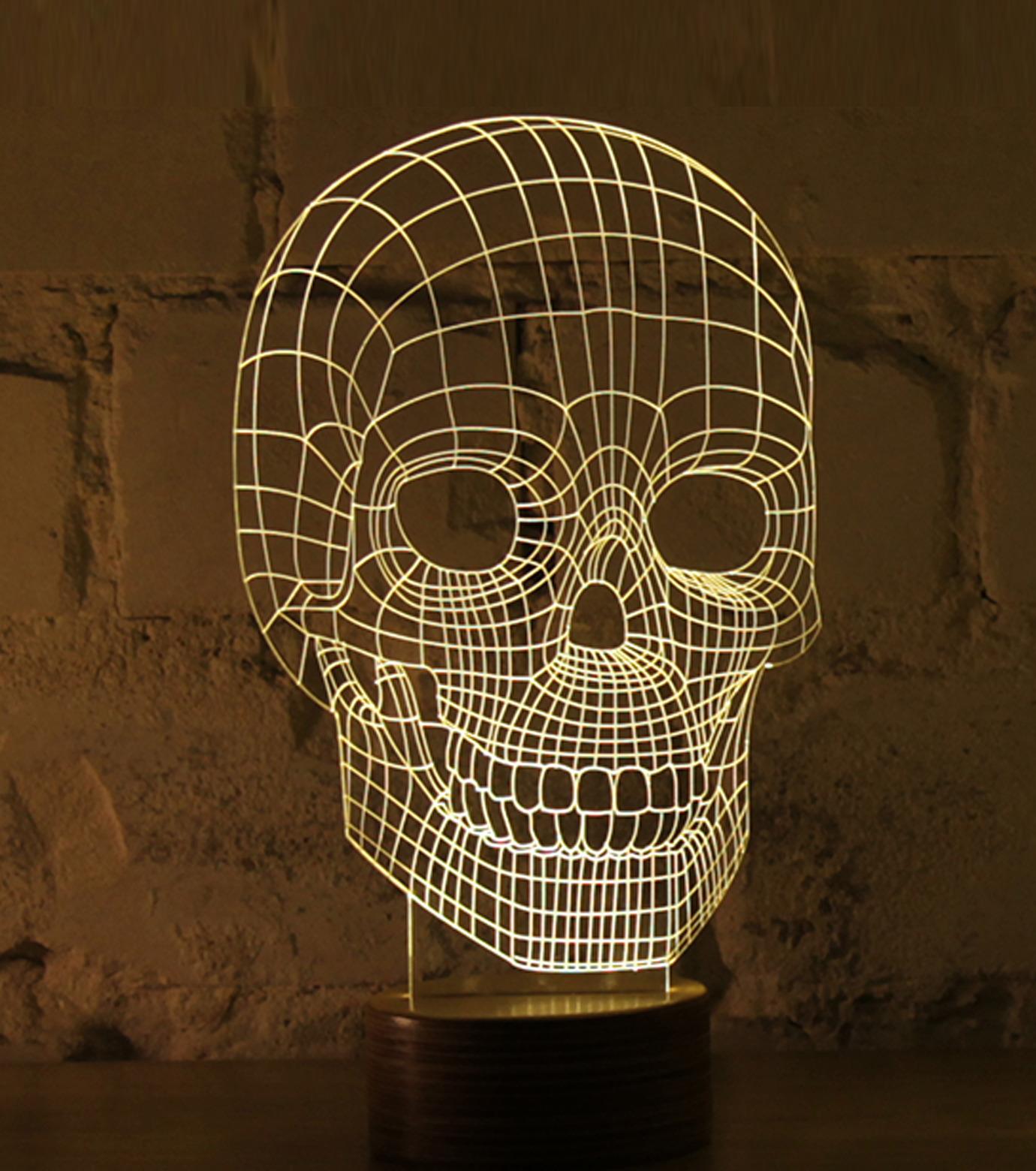 Bulbing(バルビング)のSKULL Lamp-NONE(ライト/light)-480520-0 拡大詳細画像1