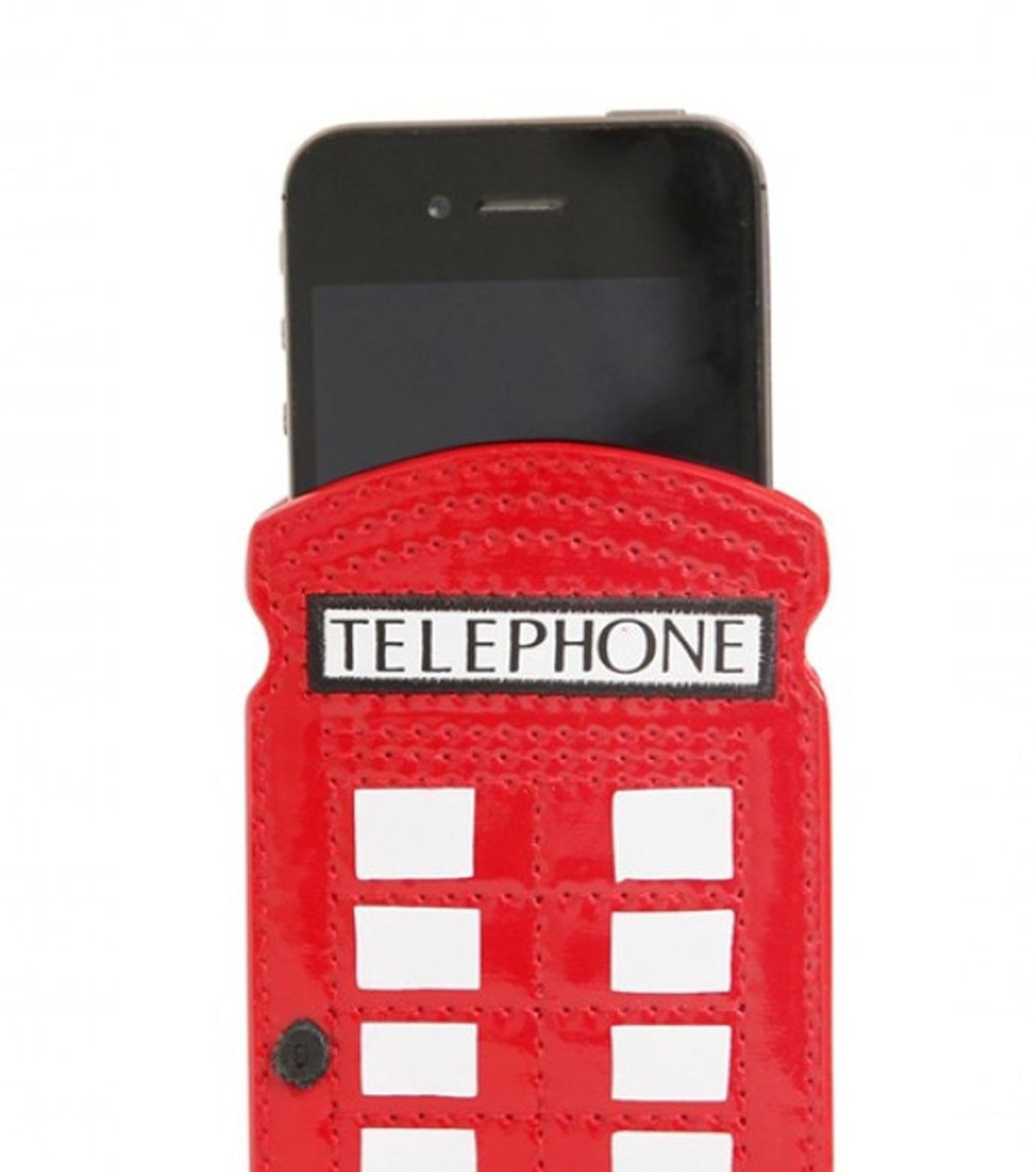 Lulu Guinness(ルル・ギネス)のTelephone Box Phone Holder-RED(ケースiphone5/5s/se/case iphone5/5s/se)-50003235-62 拡大詳細画像3